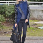 Wool and leather coat