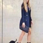 Blue blazer coat