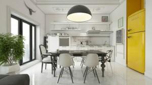 Casa de corada mezclando elementos clásicos y modernos