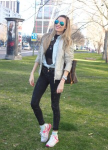 skinny jeans new balance louis vuitton ray ban