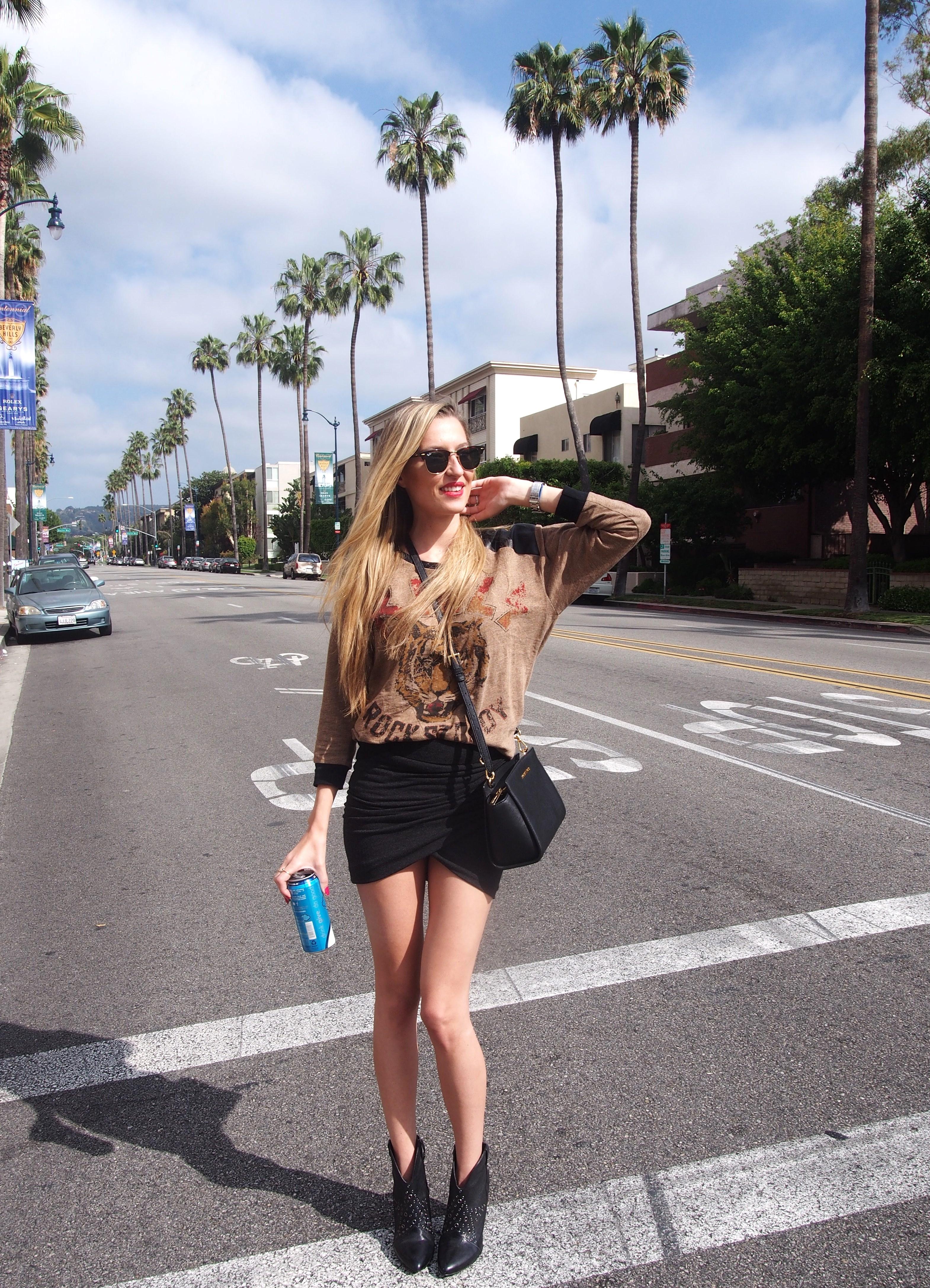 Palm_Trees_Los_Angeles_California_Ray_Ban_Hoodie_Venca_Michael_Kors_Booties_Guess_Lara_Martin_Gilarranz_Bymyheels