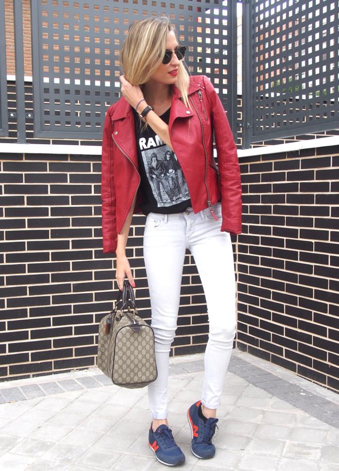 Guess_Perfecto_Jacket_HM_Skinny_Jeans_Ramones_Eleven_Paris_Tshirt_Boston_Bag_Gucci_Ray_Ban_New_Balance_Sneakers_Lara_Martin_Gilarranz_Bymyheels-