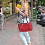 Cap, capri pants, New Balance and Loewe