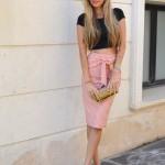 Midi skirt and crop top