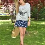 Polka dots & sweatshirt