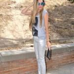 Silver pants and Eleven Paris