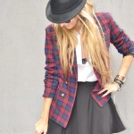 Tartan blazer, it's a must have!