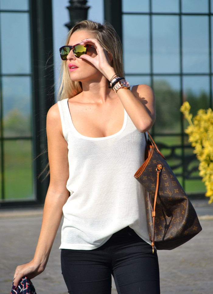 New_Balance_Skinny_Jeans_Blazer_Mirror_Sunnies_Neverfull_Louis_Vuitton_Wantlook_Sunnies_Tank_Top_Lara_Martin_Gilarranz_Bymyheels (3)