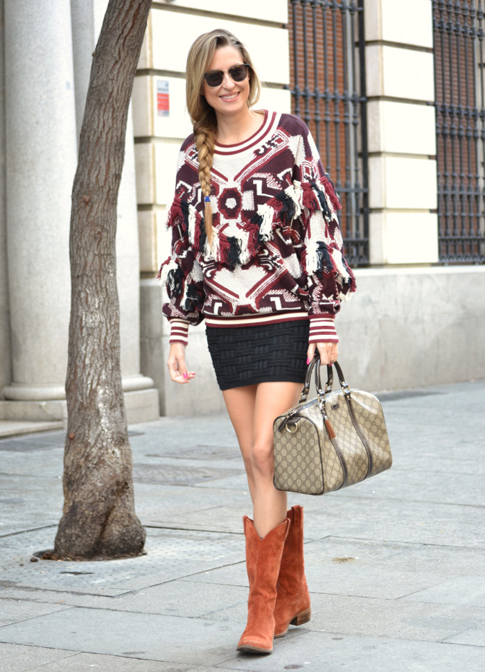 Aztec_Print_Sweater_Zara_Clubmaster_Ray_Ban_Botas_Boston_Bag_Gucci_Falda_Negra_Lara_Martin_Gilarranz_Bymyheels (5)