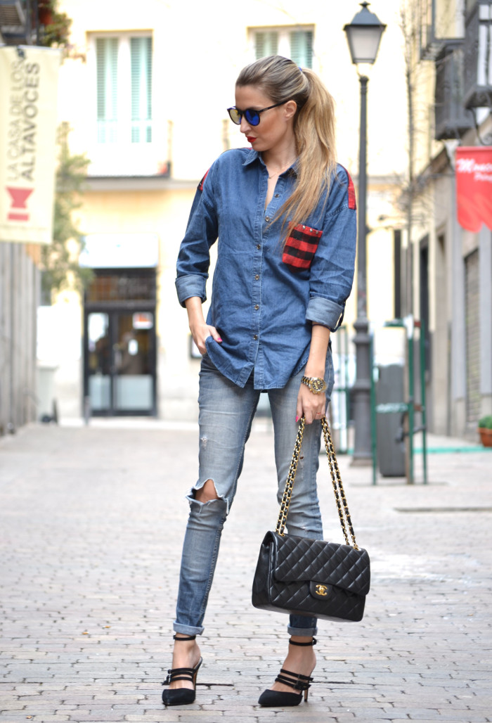 Camisa_Vaquera_Cuadros_Venca_Wantlook_Jumbo_255_Chanel_Pantalon_Rolex_Lara_Martin_Gilarranz_Bymyheels (3)