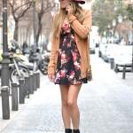 Flowers dress, hat and booties