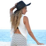 Crop and hat
